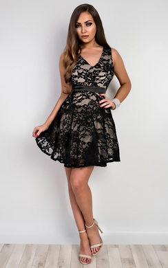 Dijana Lace Skater Dress