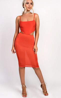 Ajtar Slinky Cut out Dress