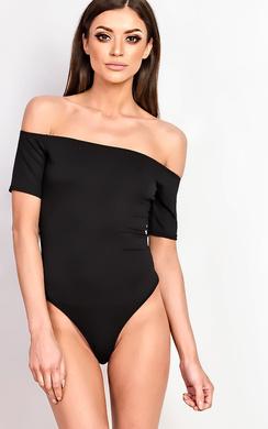 Violet Off Shoulder Bardot Bodysuit