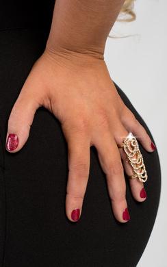 Hope Floral Diamante Ring