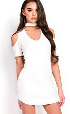 Zariah Choker Neck Bodycon Dress