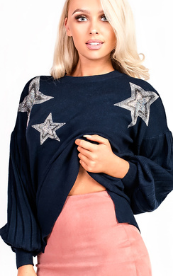 Cheryl Knitted Star Embellished Jumper