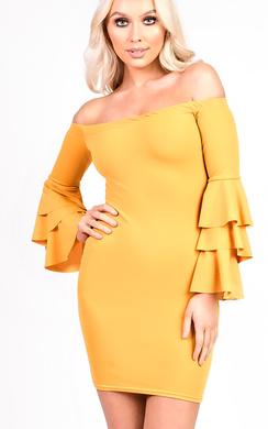 Ellie Frill Bardot Dress