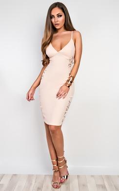 Cadence Strappy Lace Bodycon Dress