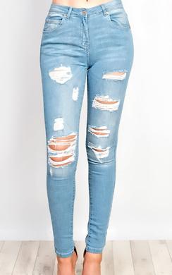 Adrienna Ripped Skinny Jeans