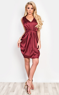 Freya Satin Gathered Dress