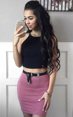 Brihanna Basic Mini Skirt