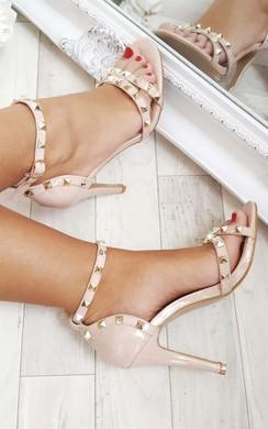 Nina Studded Patent Heels