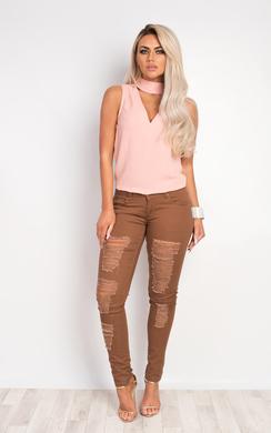Serra Ripped Skinny Jeans