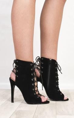 Radelle Peep Toe Lace-Up Heels