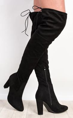Dusty Faux Suede Knee High Boots