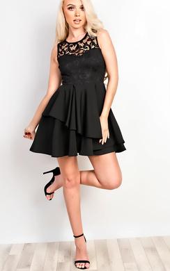 Belle Lace Skater Dress