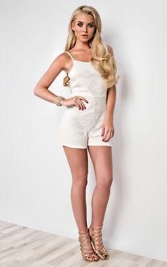 Jessica Strappy Lace Playsuit