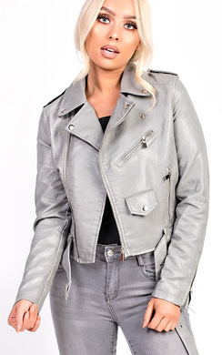 Leyla Biker Faux Leather Jacket