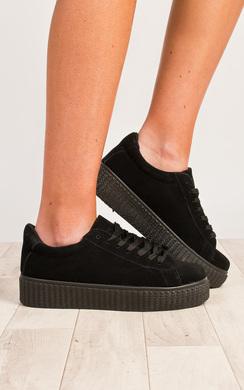 Breza Faux Suede Platform Shoes