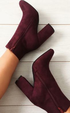Rosalie Faux Suede Heeled Ankle Boots