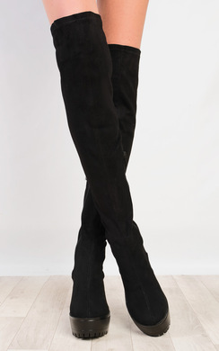 Paloma Faux Suede Knee High Boots