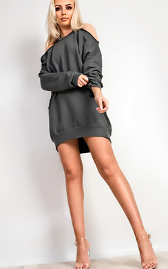 Aiman Oversized Ripped Jumper Dress