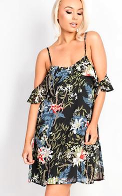 Ellie Floral Strappy Shift Dress
