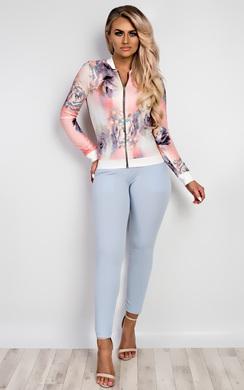 Ava Floral Bomber Jacket