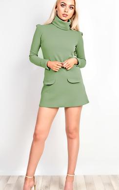 Bobbi High Neck Shift Dress