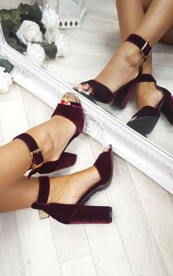 Lindsay Suede Effect High Heels