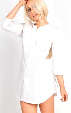 Blair Button Front Frill Shirt Dress