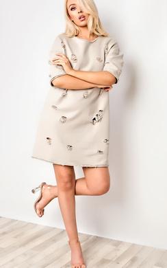 Daria Oversized Ripped Jumper Dress