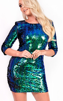 Carrie Sequin Bodycon Dress