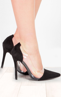Alicia Clear Panel Court Heels