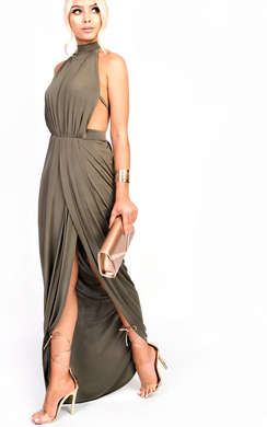 Miya Backless Split Maxi Dress