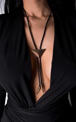 Lulu Shirt Tie Necklace