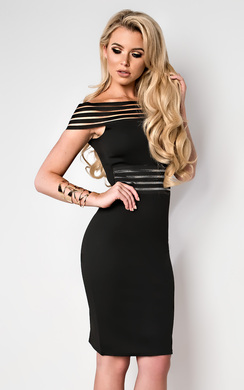 Ivette Stripe Detail Midi Dress