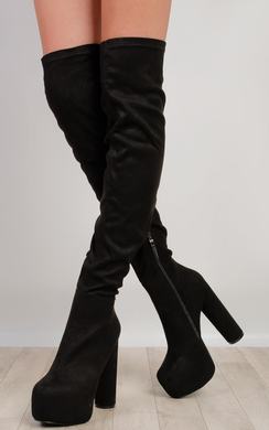 Narelle Faux Suede Knee High Boots