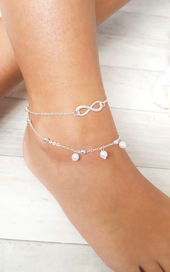 Ana Infinity Pearl Anklet