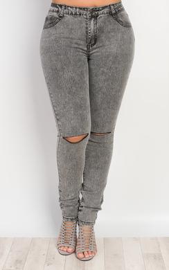 Raya Ripped Knee Skinny Jeans