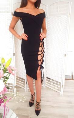 Aleshia Lace Up Bodycon Dress
