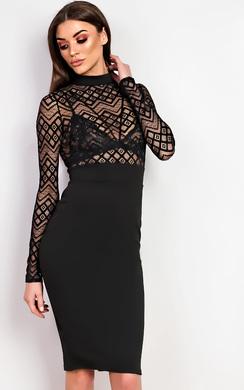 Nelli Bodycon Midi  Dress