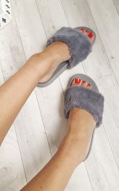 Malibu Faux Fur Sliders