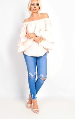 GiGi Bardot Bell Sleeve Top