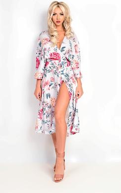 Sasha Floral Print Longline Kimono