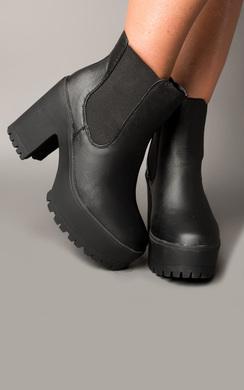 Vesper Faux Leather Chelsea Boots