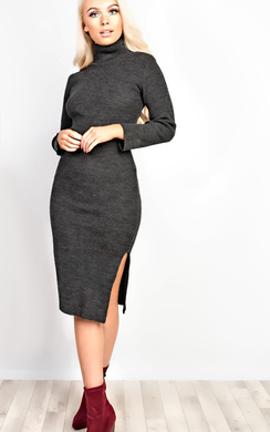 Ryanne High Neck Knitted Midi Dress