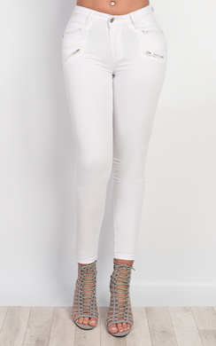 Palma Zip Detail Skinny Jeans