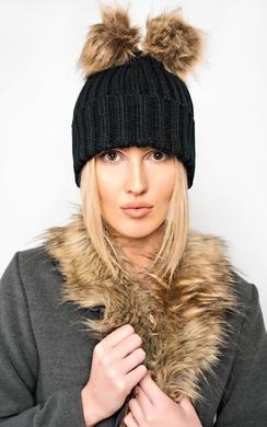 Bellamay Knit Double Pompom Hat