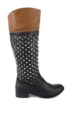 Teresa Knee High Spiked Boots
