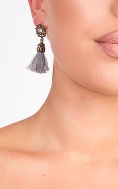 Valenciaga Tassel Jewel Earrings