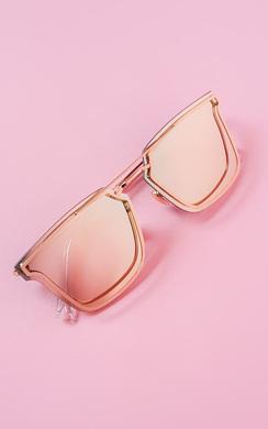 Livina Reflective Gold Sunglasses