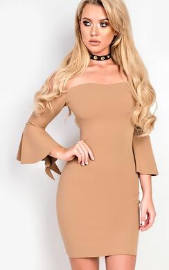 Alise Off Shoulder Bodycon Dress