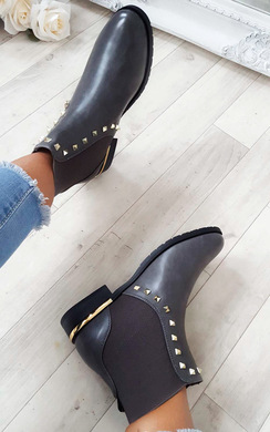 Shelly Studded Chelsea Ankle Boots